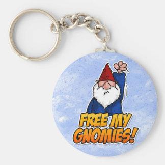 free my gnomies keychain