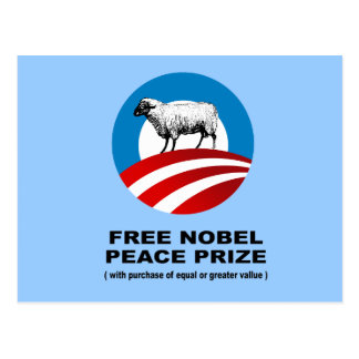 Free Nobel Peace Prize with purchase of equal valu Postcard