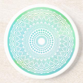 Free Ocean Sandstone Coaster | Mandala Coaster