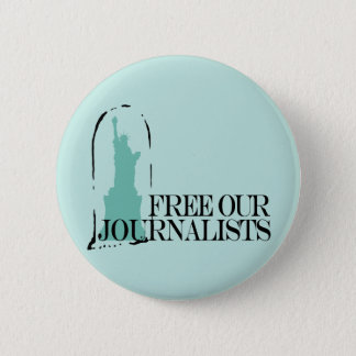 Free our journalists 6 cm round badge