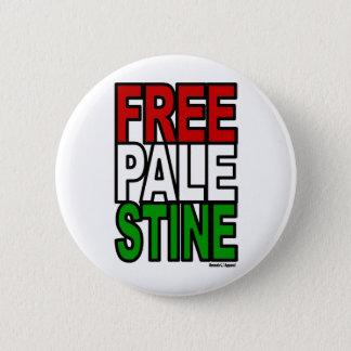 Free Palestine Block 6 Cm Round Badge