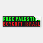 FREE PALESTINE BOYCOTT ISRAEL - Bumper Sticker
