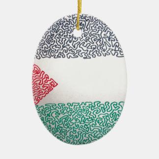 Free Palestine Ceramic Oval Decoration