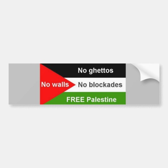 Free Palestine - Customised Bumper Sticker