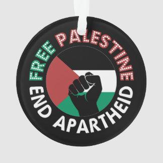 Free Palestine End Apartheid Flag Fist Black
