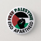 Free Palestine End Apartheid Palestine Flag 6 Cm Round Badge