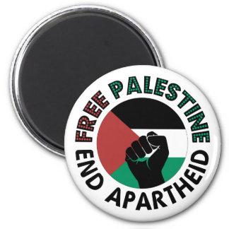 Free Palestine End Apartheid Palestine Flag 6 Cm Round Magnet