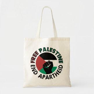 Free Palestine End Apartheid Palestine Flag Budget Tote Bag