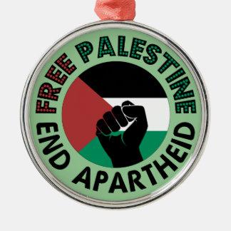 Free Palestine End Apartheid Palestine Flag Christmas Tree Ornament