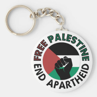 Free Palestine End Apartheid Palestine Flag Key Ring