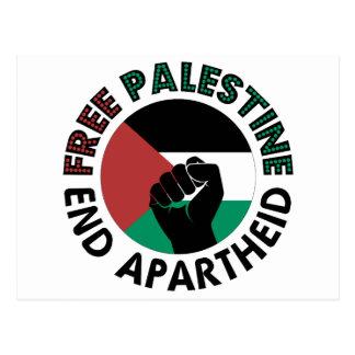 Free Palestine End Apartheid Palestine Flag Postcard