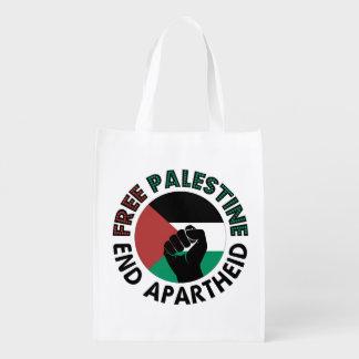 Free Palestine End Apartheid Palestine Flag Reusable Grocery Bag