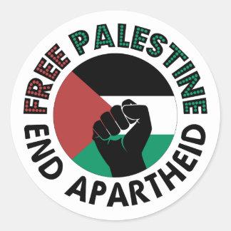 Free Palestine End Apartheid Palestine Flag Stickers