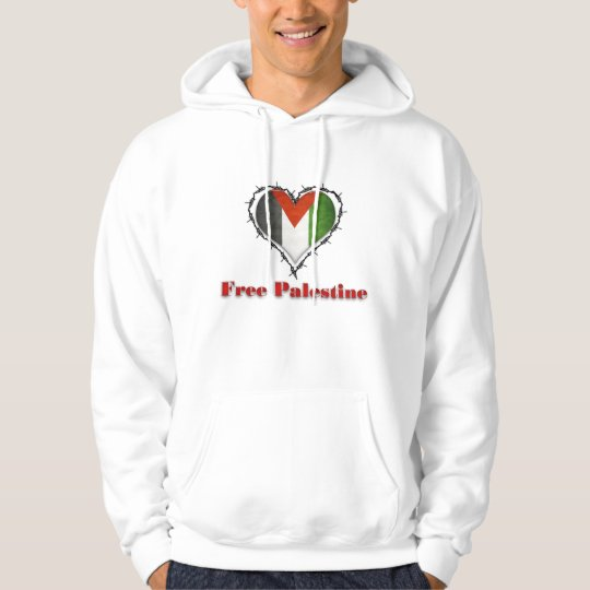 Free Palestine Flag Barbed Wire Mens Hoodie