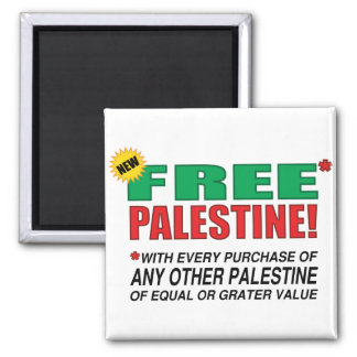 Free Palestine - Free us from palestine please Square Magnet