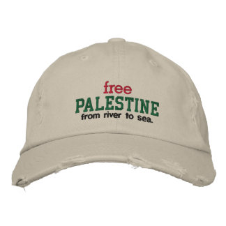 Free Palestine - from river to sea. Embroidered Baseball Cap