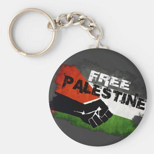 Free Palestine Grunge Flag Keychain