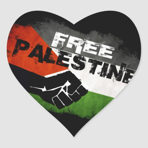 Free Palestine Heart Stickers