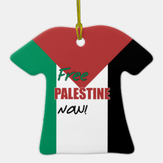 Free Palestine Now Palestinian Flag Christmas Tree Ornaments