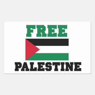 Free Palestine Rectangular Stickers