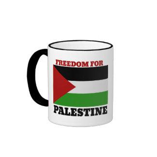 Free Palestine Ringer Mug