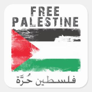 Free Palestine Square Sticker