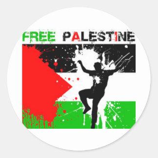 FREE PALESTINE THEME. ROUND STICKER