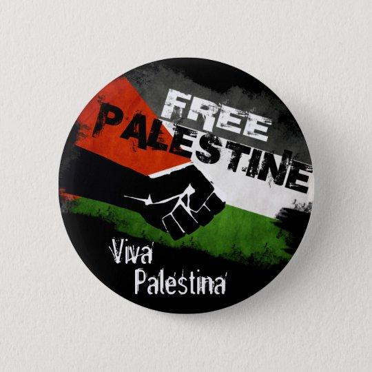 Free Palestine - Viva Palestina 6 Cm Round