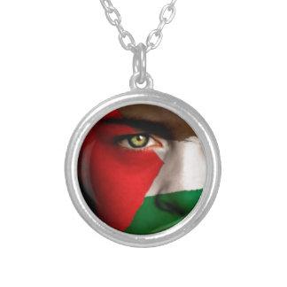 Free Palestine- Viva Palestina Silver Plated Necklace