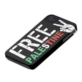 Free Palestine with Peace Sign iPhone 4 Case-Mate Case