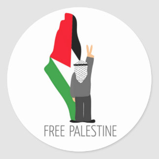 Free Palestine with the right of return Classic Round Sticker