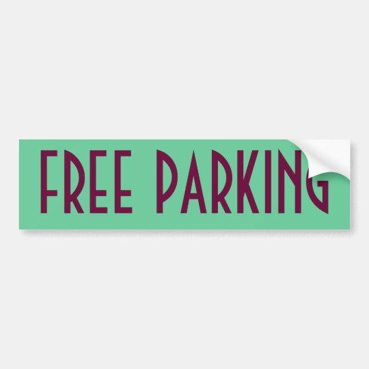 Free Parking Bumper Sticker