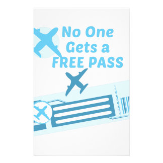 Free Pass Stationery Design