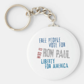 Free people vote for Ron Paul Basic Round Button Key Ring
