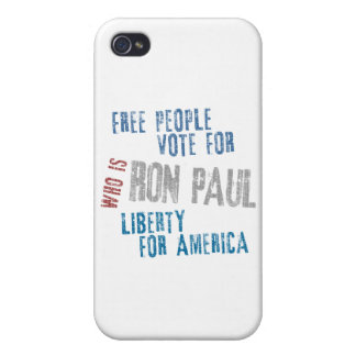 Free people vote for Ron Paul iPhone 4/4S Cover