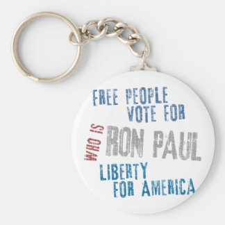 Free people vote for Ron Paul Keychain