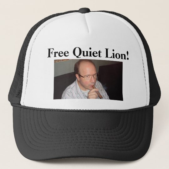 Free Quiet Lion! trucker hat