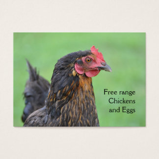 Free range black chicken eggs business card