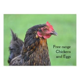 Free range chicken eggs business card