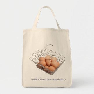 free range eggs bags
