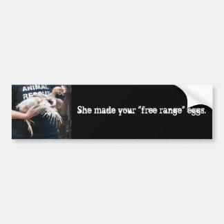 Free Range Myth Bumper Sticker