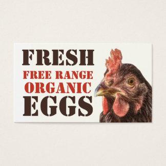 Free Range Organic Eggs - Layer Chicken Business Card