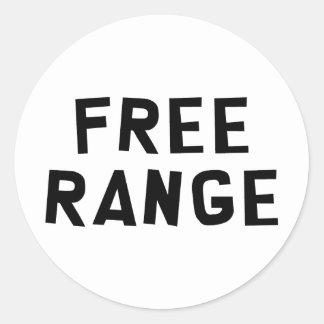 Free Range Round Sticker