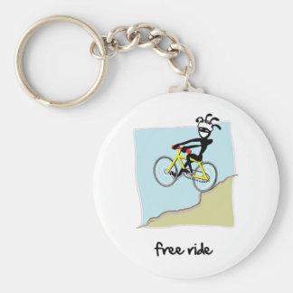 """""""Free Ride"""" Basic Round Button Key Ring"""