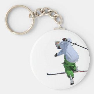 free rider basic round button key ring