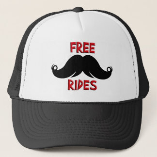 Free Rides Custom Mustache, Father's Day Gift Trucker Hat