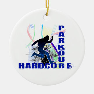 Free Running Parkour Hardcore Christmas Ornament