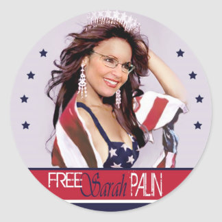 Free Sarah Palin Classic Round Sticker