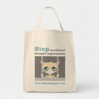 Free Schrodinger s Cat Canvas Bags