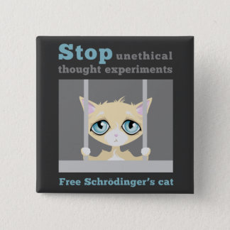 Free Schrodinger's Cat 15 Cm Square Badge